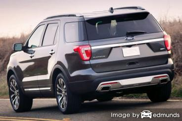 Insurance rates Ford Explorer in Scottsdale