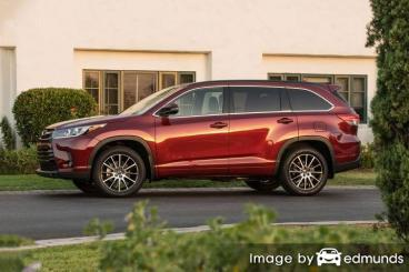 Discount Toyota Highlander insurance